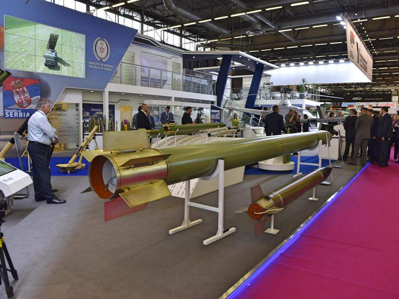 Jerina 1 and Jerina 2 missiles were showcased at the Eurosatory 2018 defence exhibition held in Paris in June 2018. Image courtesy of Ministry of Defence of the Republic of Serbia.
