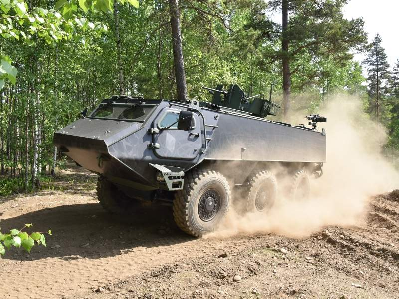 The Patria 6x6 armoured wheeled vehicle can attain a maximum road speed of 100km/h. Images courtesy of Patria Land Systems Oy.