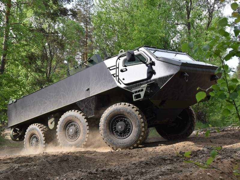 Patria 6x6 AMV can carry up to three crew members and up to ten troops. Image courtesy of Patria Land Systems Oy.