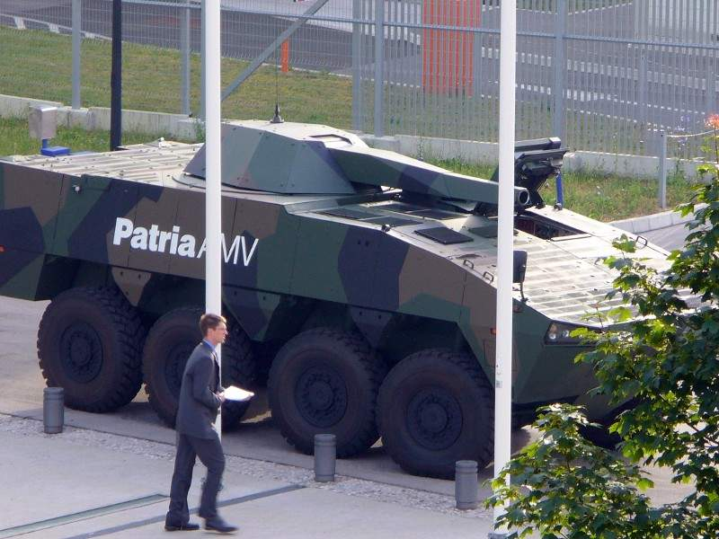 The Patria 6x6 variant retains components of its predecessor Patria AMV.