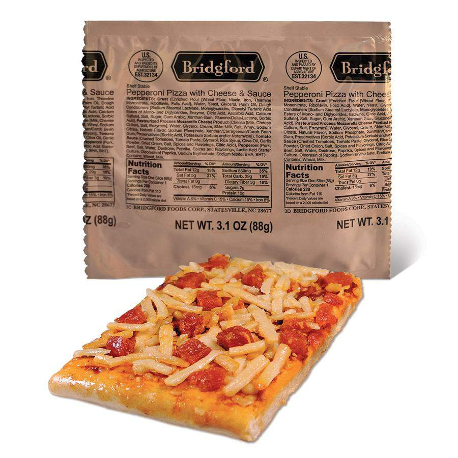 MRE pizza with packet