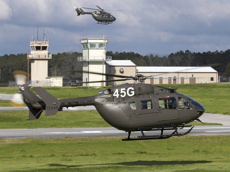 The UH-72A Lakota is the US Amy's new light utility helicopter.