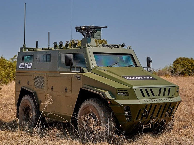 The Milkor 4x4 armoured personnel carrier (APC) was launched by Milkor at the AAD 2018 defence exhibition. Image courtesy of Milkor.