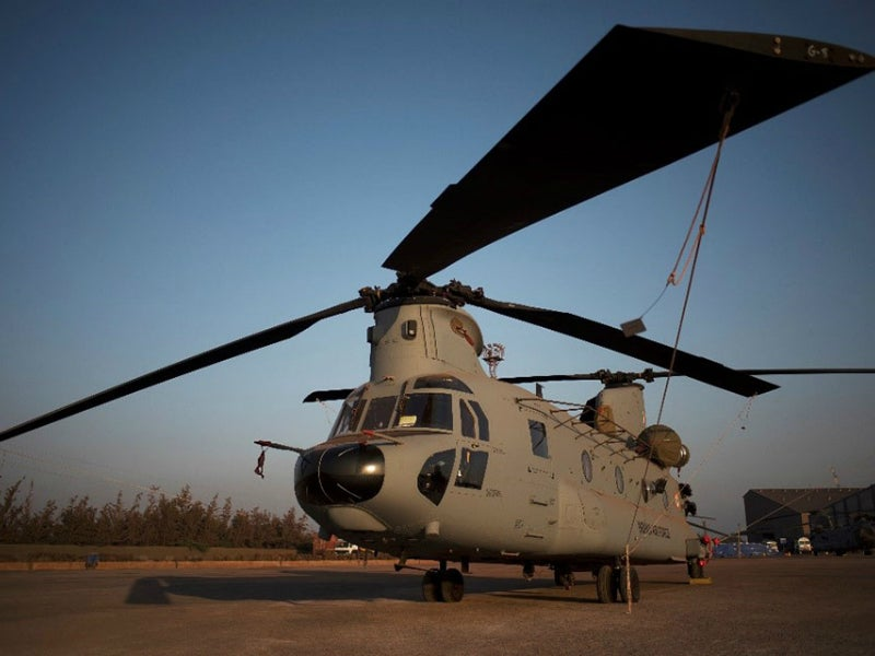 The CH-47F improved cargo helicopter offers reduced vibration, improved avionics and more powerful engine. Credit: Boeing.
