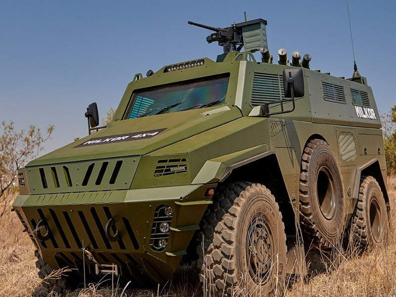 The Milkor APC entered the production phase in 2018. Image courtesy of Milkor.