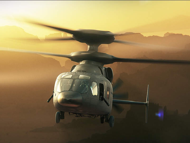 The aircraft will be equipped with X2 rigid co-axial rotor system. Image courtesy of Boeing.
