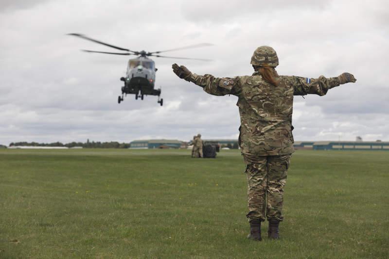 uk military women