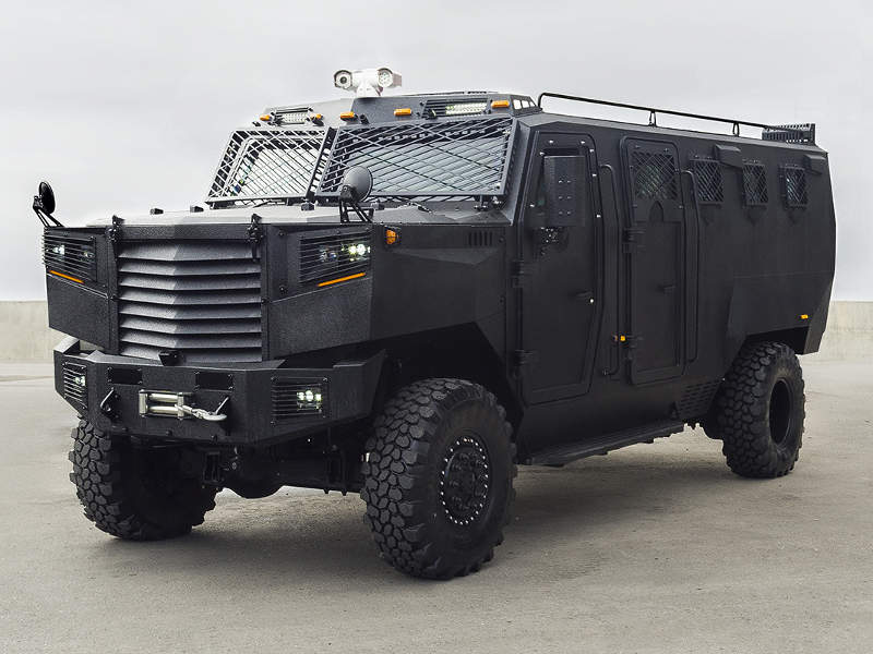The Superior armoured personnel carrier (APC)/ armoured medical evacuation vehicle (AMEV) was developed by INKAS Armored Vehicle Manufacturing. Image courtesy of INKAS Armored Vehicle Manufacturing.