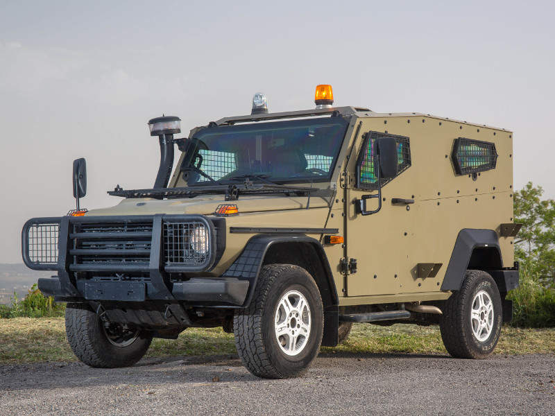 Plasan unveiled its new Hyrax light armoured vehicle at the Eurosatory 2018 exhibition. Image courtesy of Plasan.