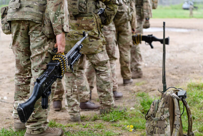 British troops exercise in Estonia as part of the Nato's eFP (Enhanced Forward Presence)