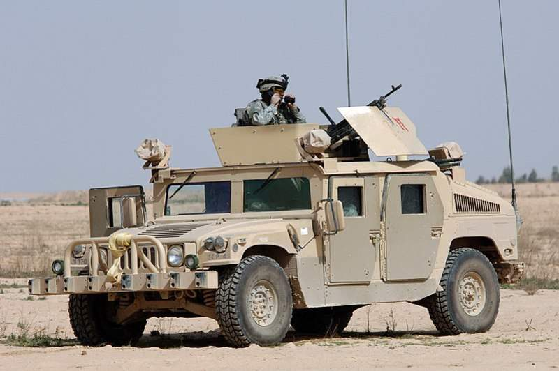US Army high-mobility multipurpose wheeled vehicle