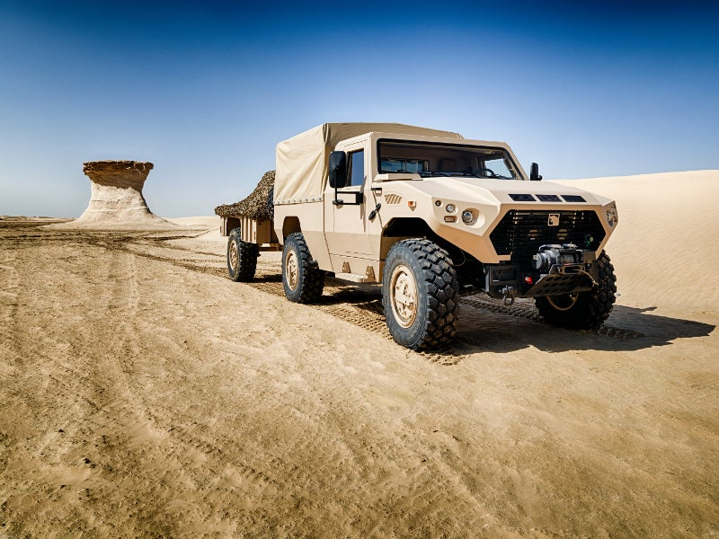 The AJBAN 420 logistics support vehicle was developed by NIMR Automotive. Image courtesy of NIMR Automotive.
