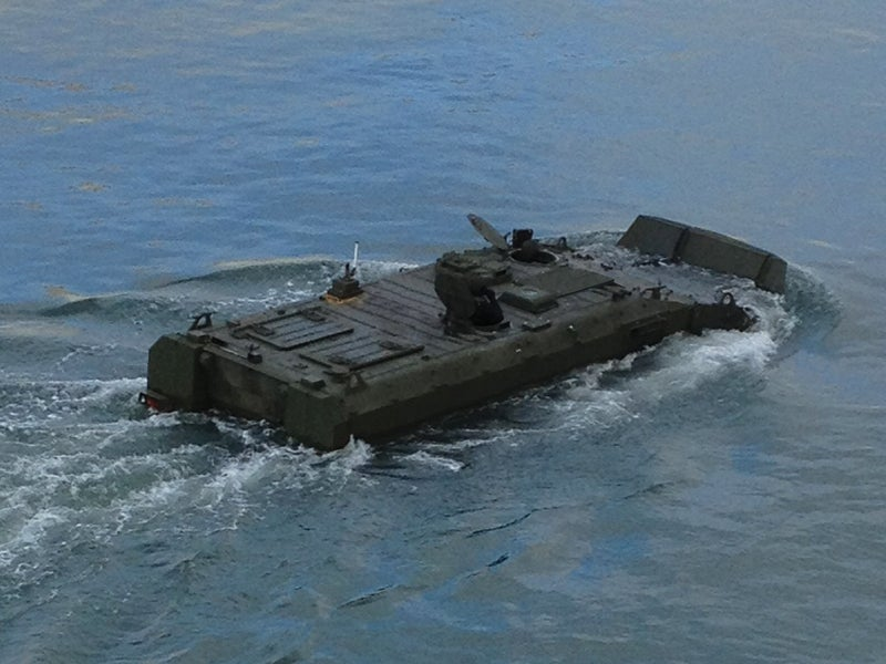The ACV has a maximum amphibious speed of 6kt. Image courtesy of BAE Systems.