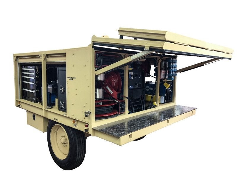 Growler selects LINE-X polyurea coating for military welding trailer