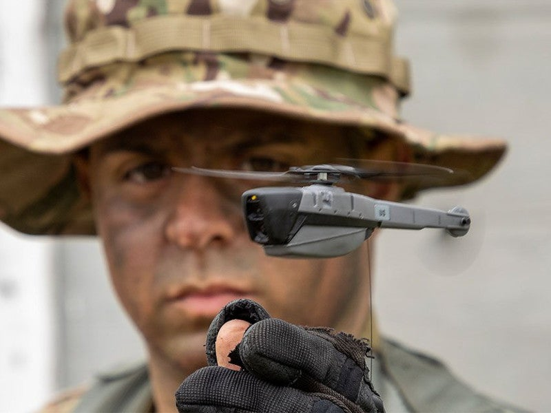Black Hornet PRS enhances the situational awareness of dismounted soldiers. Image courtesy of FLIR Systems.