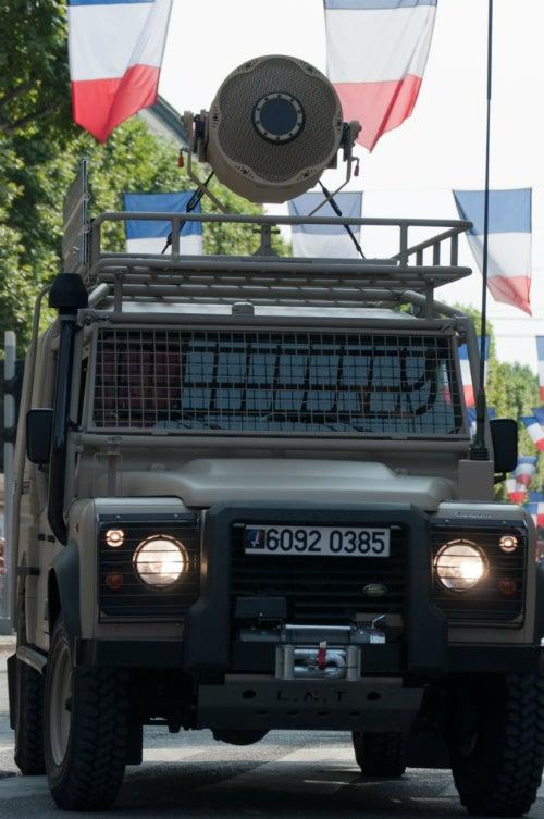 acoustic hailers defender vehicles