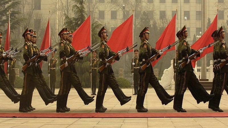 China decree training PLA troops