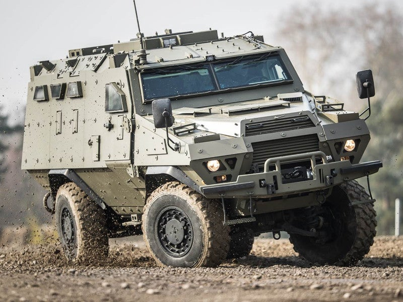 Fortress is a 14.5t high-mobility armoured personnel carrier offering STANAG 4569 standard protection. Image courtesy of Arquus.