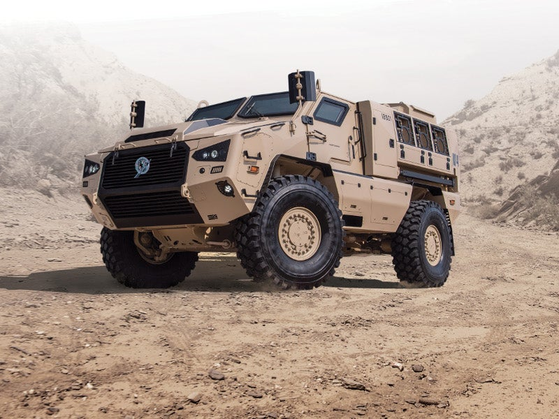Mbombe 4 was officially launched at the International Defence Exhibition and Conference (IDEX) in February 2019. Image courtesy of Paramount Group.