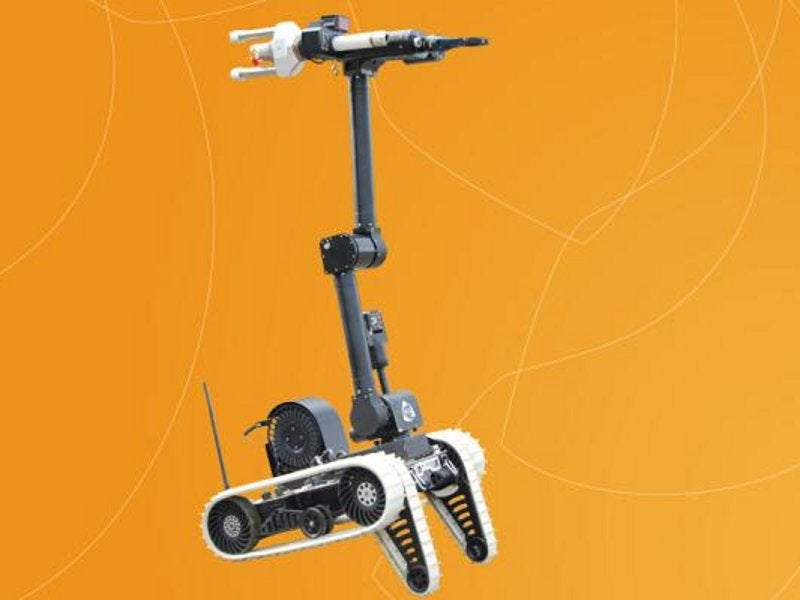 Cameleon E UGV's manipulator arm can reach vertical heights up to 1.5m. Image courtesy of ECA Group.