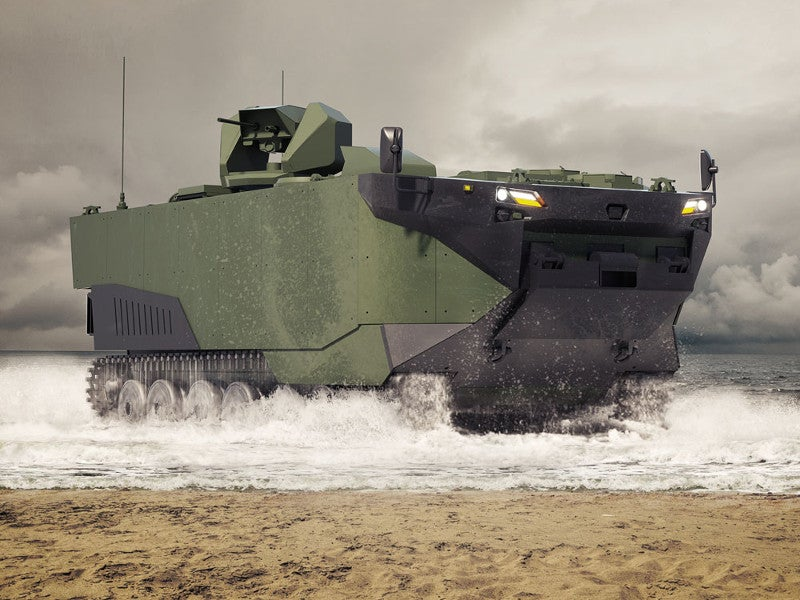 Zaha is a new marine assault vehicle (MAV) developed by FNSS. Image courtesy of FNSS.
