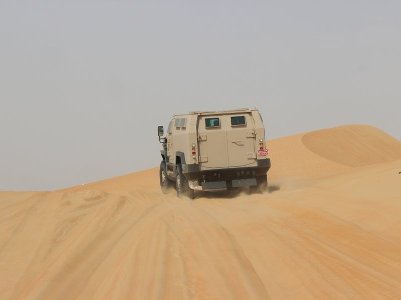The Viper 4x4 vehicle is capable of operating on harsh rocky and sandy terrains. Image courtesy of Mobile Land Systems.