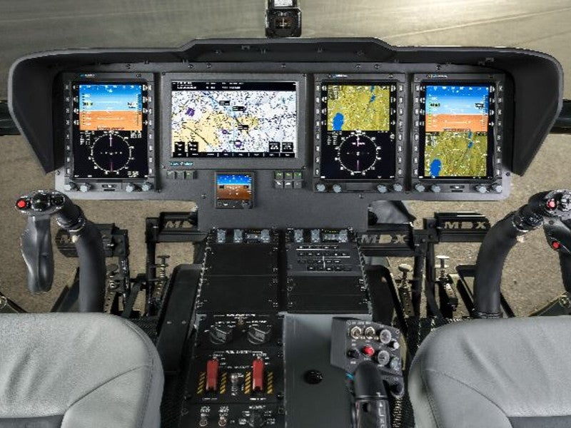 The MD 969 attack helicopter is fitted with Genesys Aerosystems IDU-680 all-glass cockpit. Image courtesy of MD Helicopters, Inc.