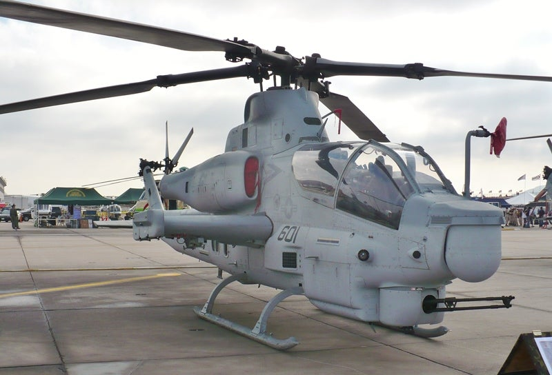 AH-1Z attack helicopters