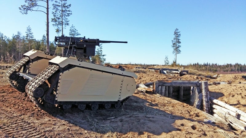 Armed combat UGV