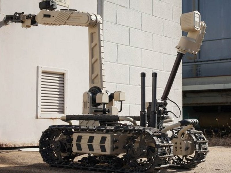 The TIGR UGV's manipulator arm is 1.5m-long when fully extended. Image courtesy of Roboteam.
