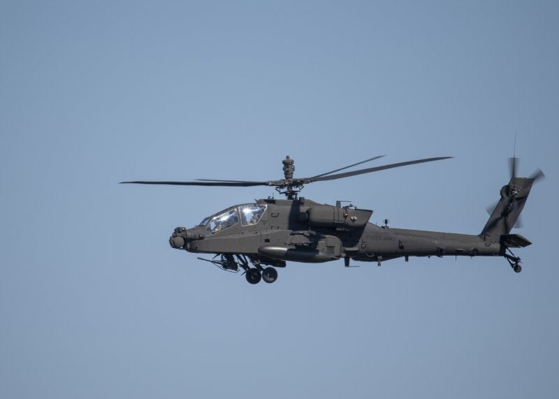 AH-64E Version 6 Apache helicopter