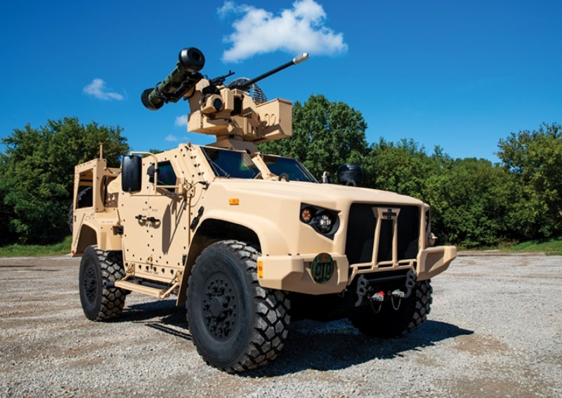 Javelin weapon system Oshkosh JLTV