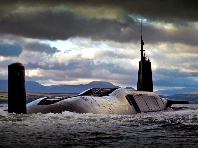 Image of HMS Vengeance returning to HMNB Clyde, after completing Operational Sea Training
