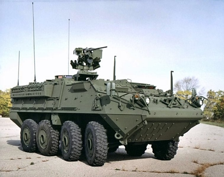 Stryker vehicles