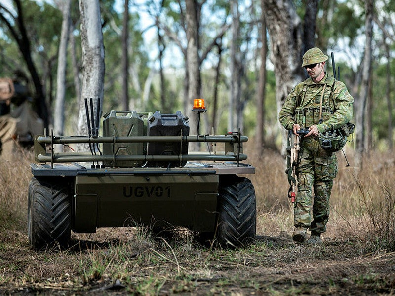 The Mission Adaptable Platform System (MAPS) unmanned ground vehicle (UGV) is being offered by Praesidium Global. Image courtesy of Sergeant Jake Sims.