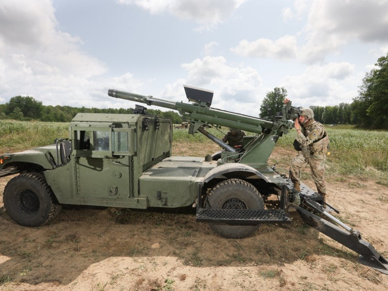 The Hawkeye weapon system integrates a M20 105mm cannon. Image courtesy of Maj. W. Chris Clyne, 41st Infantry Brigade Combat Team Public Affairs.