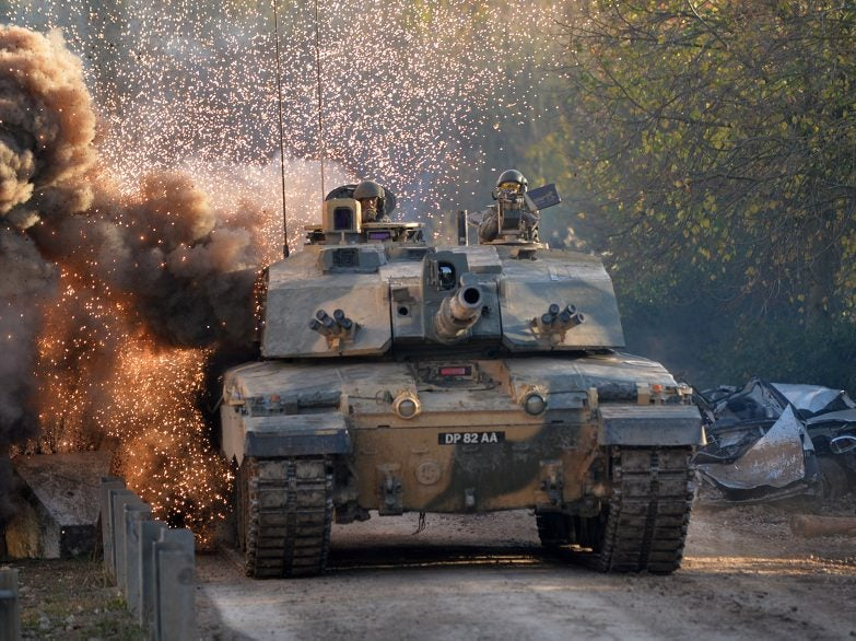 Challenger 2 at Land Combat Power Visit