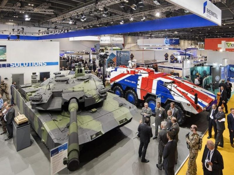 Rheinmetall AG display and DSEI 2017. Credits: DSEI.
