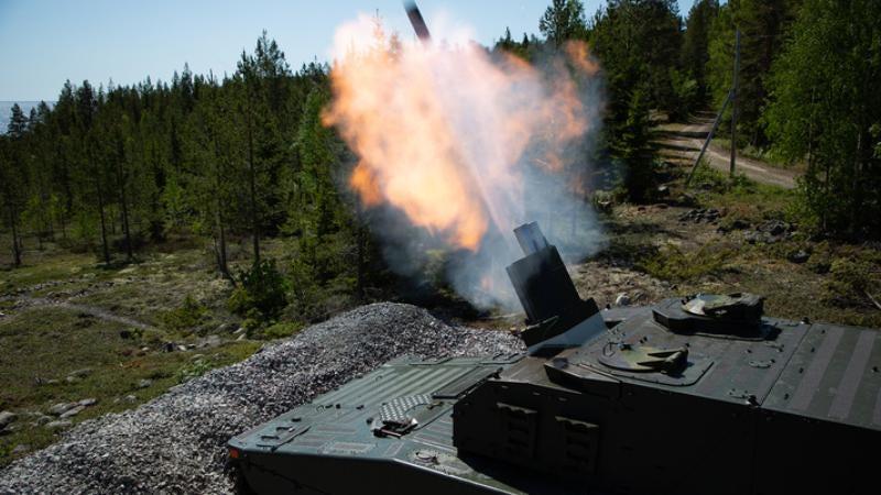 BAE Systems delivers CV90 Mjölner mortar system to Sweden