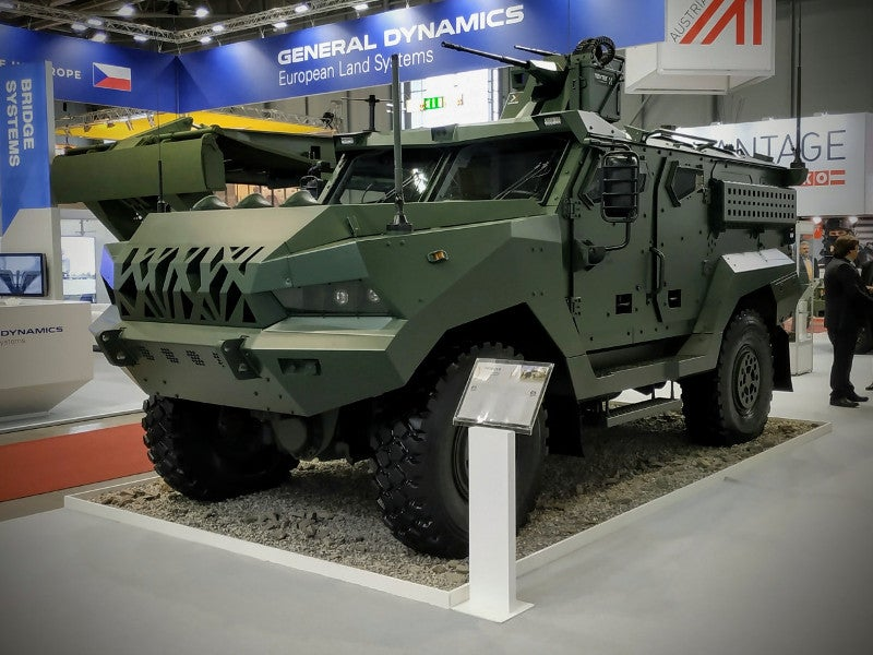 The Patriot II armoured vehicle was presented for the first time at the International Trade Fair of Defence and Security Technologies (IDET) 2019. Image courtesy of EXCALIBUR ARMY spol. s r.o.