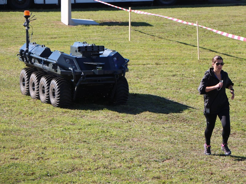 The Mission Master UGV has a maximum speed of 40km/h. Image courtesy of Fraunhofer FKIE.