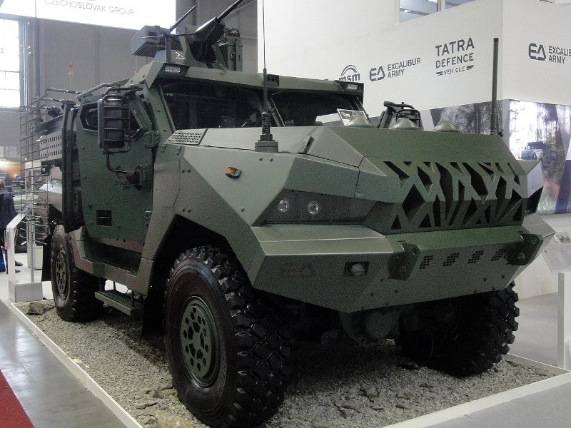 The maximum combat weight of the Patriot II armoured vehicle is 17t. Image courtesy of Reise Reise.