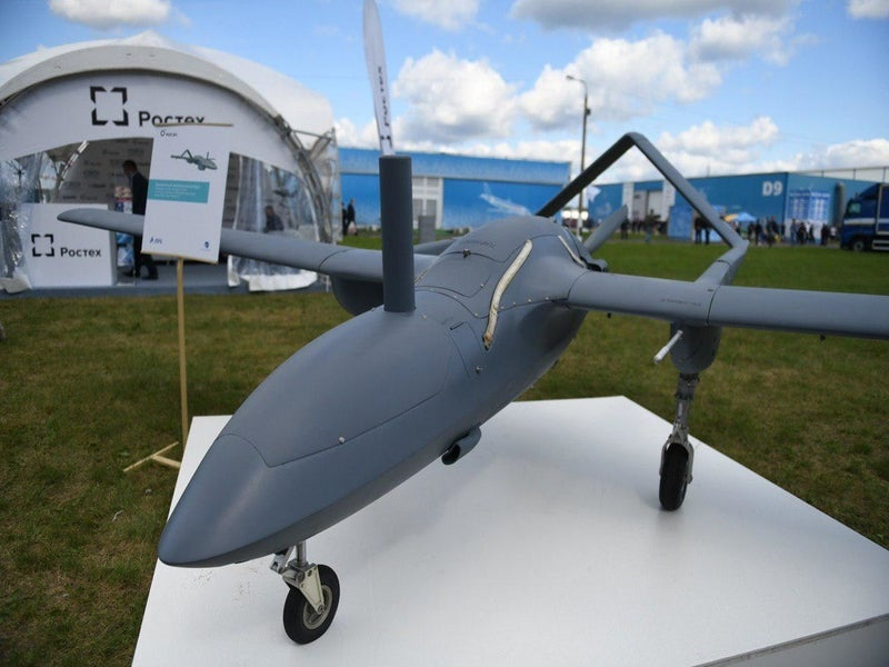 The export variant of the Corsair UAV was unveiled at MAKS-2019 air show. Image courtesy of Alexander Utkin.