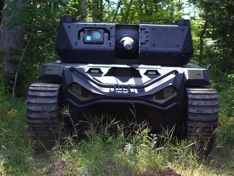 The Ripsaw M5 robotic combat vehicle is an unmanned light-weight tank suitable for all-terrain conditions. Image courtesy of Textron Systems.