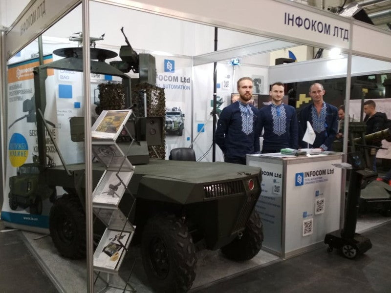 "Infocom unveiled Laska 2.0 at the XV International Specialized Exhibition ""Arms and Security -2018"" held in Kiev, Ukraine in October 2018. Image courtesy of Infocom Ltd."