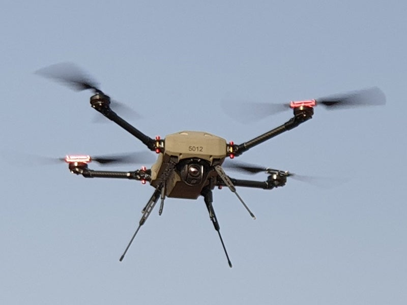 Magni multi-rotor micro drone can fly to a maximum operating altitude of 4,000ft. Image courtesy of Elbit Systems.