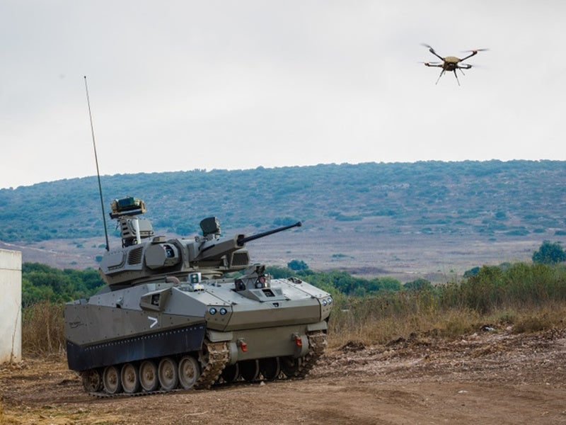 Magni multi-rotor micro drone has a maximum speed of 40km/h. Image courtesy of Elbit Systems.