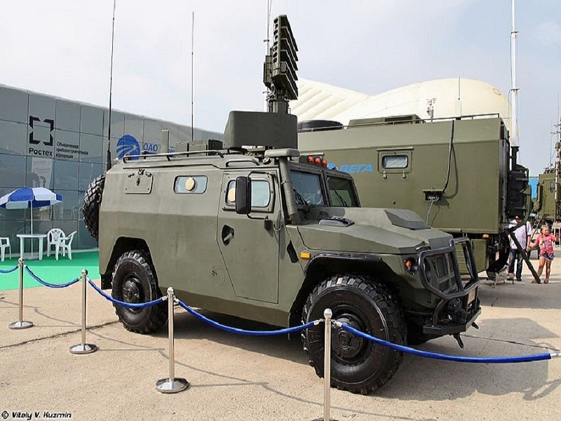 The Gibka-S mobile air defence system is based on the Tigr armoured vehicle. Image courtesy of Vitaly V. Kuzmin.