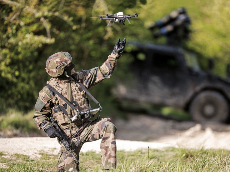 The French Defense Procurement Agency (DGA) received Novadem NX70 micro drones in September 2019. Image courtesy of Novadem.