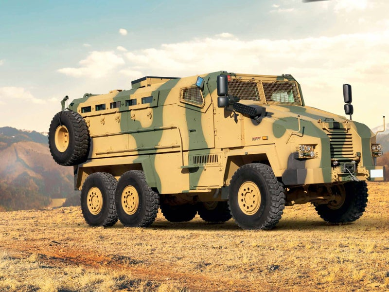 The Kirpi 6x6 vehicle is an extended version of the 4x4 model. Image courtesy of BMC.
